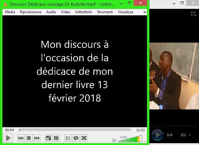 DISCOURS DE L'AUTEUR (Vidéo)